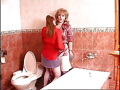 mom and son sex in toilet